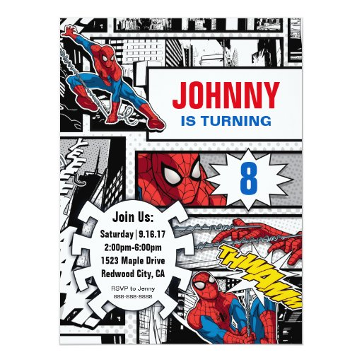 Marvel Spiderman - Birthday Card
