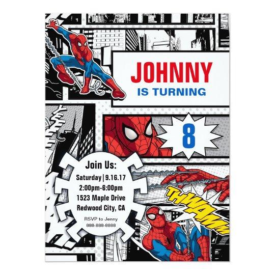 Marvel spiderman birthday card zazzle marvel spiderman birthday card bookmarktalkfo Gallery