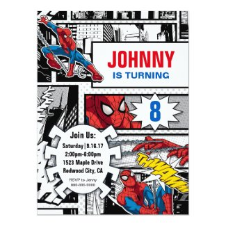 Marvel | Spiderman - Birthday Invitation