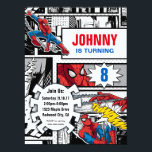 "Marvel | Spiderman - Birthday Invitation<br><div class=""desc"">Boom! Thwiip! Thwamm! Start your action hero birthday party with a bang! This cool Spiderman birthday party invitation is brought to you by the Marvel universe and is a sure way to get your guests to RSVP yes! Classic comic, lovers, and kids alike will adore the retro feel to this...</div>"