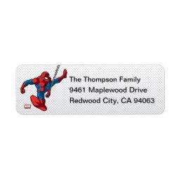 Marvel   Spiderman - Birthday Label