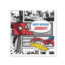 Marvel   Spiderman - Birthday Napkin