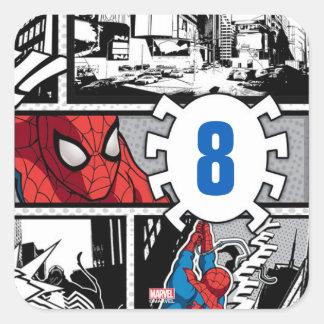 Marvel | Spiderman - Birthday Square Sticker