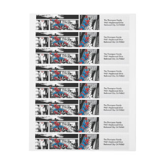 Marvel   Spiderman - Birthday Wrap Around Label