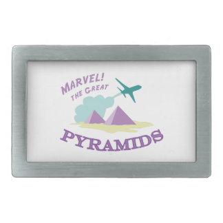 Marvel! The Great Pyramids Rectangular Belt Buckles