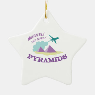 Marvel! The Great Pyramids Double-Sided Star Ceramic Christmas Ornament