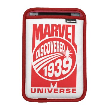 Marvel Universe Discovered 1939 Logo iPad Mini Sleeve