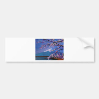 Marvellous Mount Fuji with Cherry Blossom in Japan Bumper Sticker