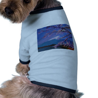 Marvellous Mount Fuji with Cherry Blossom in Japan Dog Tee Shirt