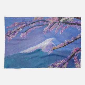 Marvellous Mount Fuji with Cherry Blossom in Japan Hand Towel