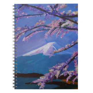 Marvellous Mount Fuji with Cherry Blossom in Japan Spiral Notebooks