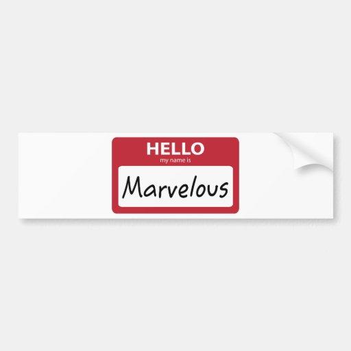 marvelous 001 bumper stickers