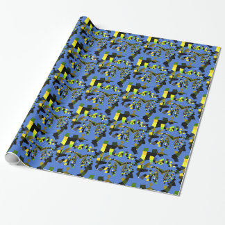 Marvelous  Blue amazing beautiful colors Wrapping Paper