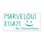 """[ Thumbnail: """"Marvelous Essay!"""" Instructor Rubber Stamp ]"""