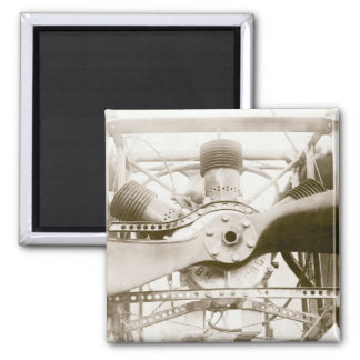 Marvelous Flying Machine 2 Inch Square Magnet