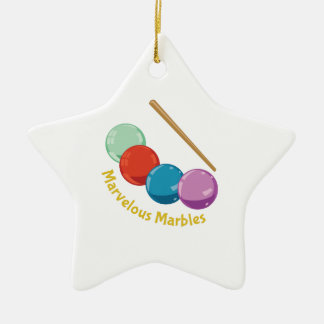 Marvelous Marbles Double-Sided Star Ceramic Christmas Ornament