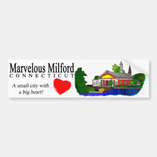 Marvelous Milford City Hall Bumper Sticker