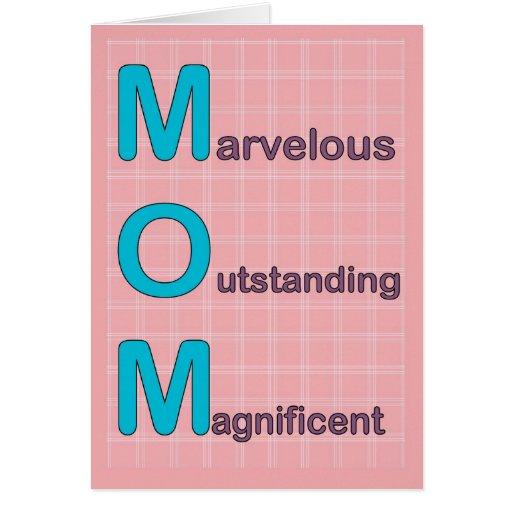 Marvelous Mom Card