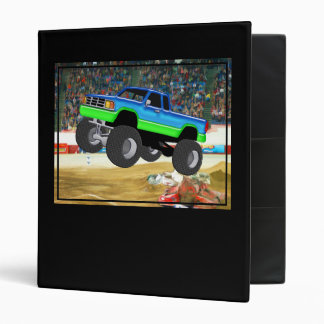 Marvelous Monster Truck in the Arena 3 Ring Binder