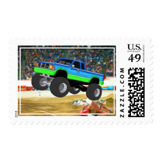 Marvelous Monster Truck in the Arena Postage