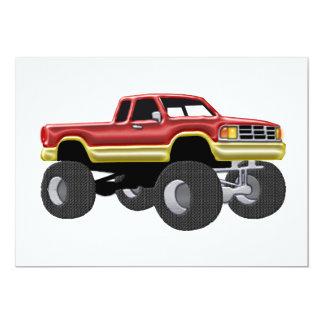 Marvelous Monster Truck Red & Gold Card