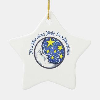MARVELOUS MOONDANCE Double-Sided STAR CERAMIC CHRISTMAS ORNAMENT
