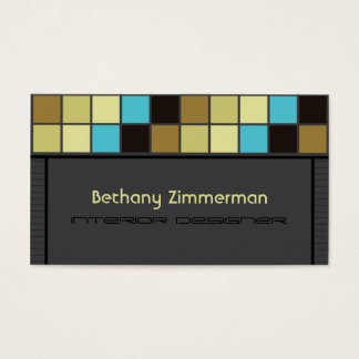 Marvelous Mosaic Tiles Tiffany Business Card