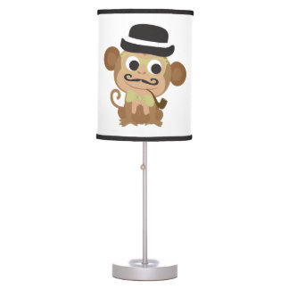 Marvelous Mustached Monkey Table Lamp
