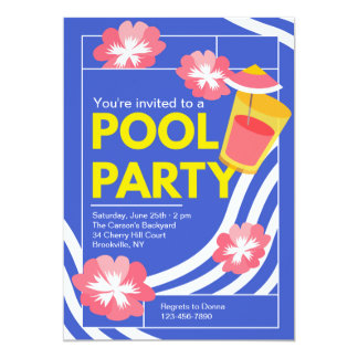 Marvelous Pool Party Invitation