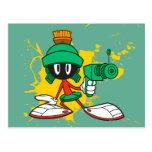 Marvin con el arma tarjetas postales