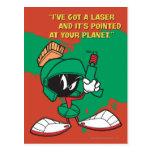 Marvin con el laser destacado postales
