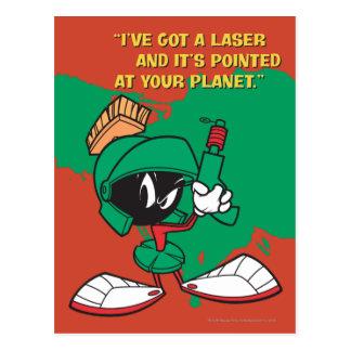 Marvin con el laser destacado postal