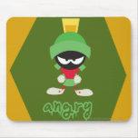 Marvin el enojado estupendo marciano alfombrilla de raton