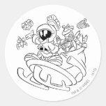 Marvin el Martian con los juguetes en el trineo de Pegatina
