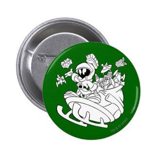 Marvin el Martian con los juguetes en el trineo de Pin