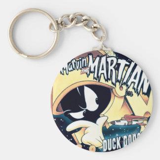 MARVIN EL MARTIAN™, EL DAFFY DUCK™ y el Elmer Llavero Redondo Tipo Pin
