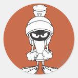 Marvin el Martian enojado en usted Etiquetas Redondas