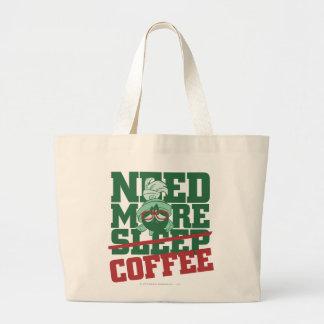 MARVIN el MARTIAN™ - necesite más café Bolsa Tela Grande
