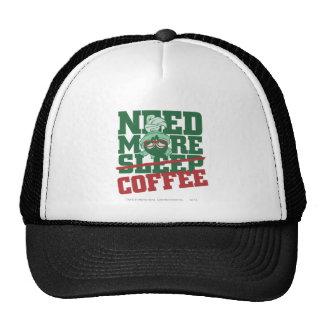 Marvin el Martian - necesite más café Gorros Bordados