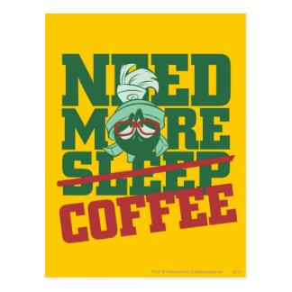 MARVIN el MARTIAN™ - necesite más café Postal