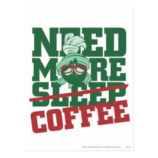 MARVIN el MARTIAN™ - necesite más café Postales