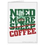 MARVIN el MARTIAN™ - necesite más café Tarjetón