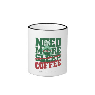 MARVIN el MARTIAN™ - necesite más café Taza A Dos Colores