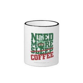 MARVIN el MARTIAN™ - necesite más café Taza De Dos Colores