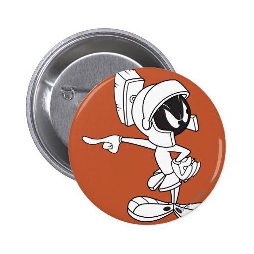 MARVIN el señalar de MARTIAN™ Pin Redondo De 2 Pulgadas