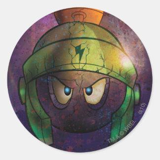 Marvin la batalla marciana endurecida pegatina
