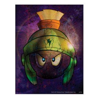 Marvin la batalla marciana endurecida postal
