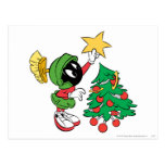 Marvin la estrella que pone marciana en árbol postales