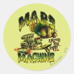 MARVIN la máquina de MARTIAN™ Marte Pegatina Redonda
