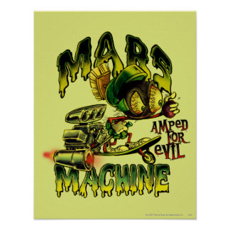 MARVIN la máquina de MARTIAN™ Marte Póster